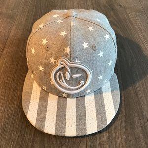 Vintage Yums Brand New Era SnapBack Gray White Hat